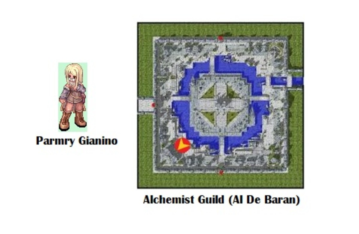 Parmry Gianino is your contact for starting the quest.