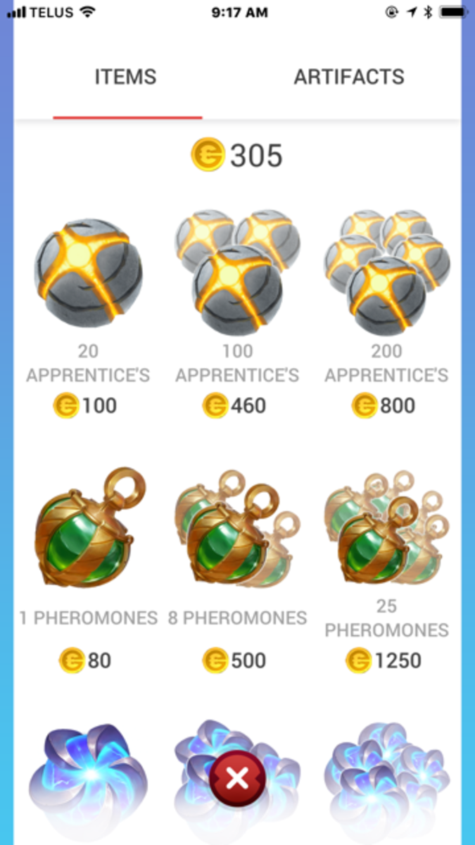 """In the """"Draconius Go"""" shop you can purchase a few items or a lot of items. Or you don't have to purchase any items to play the game."""