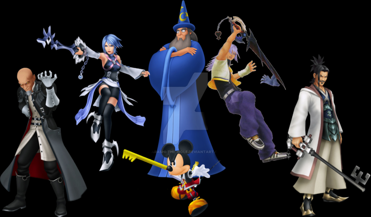 The six current Keyblade Masters