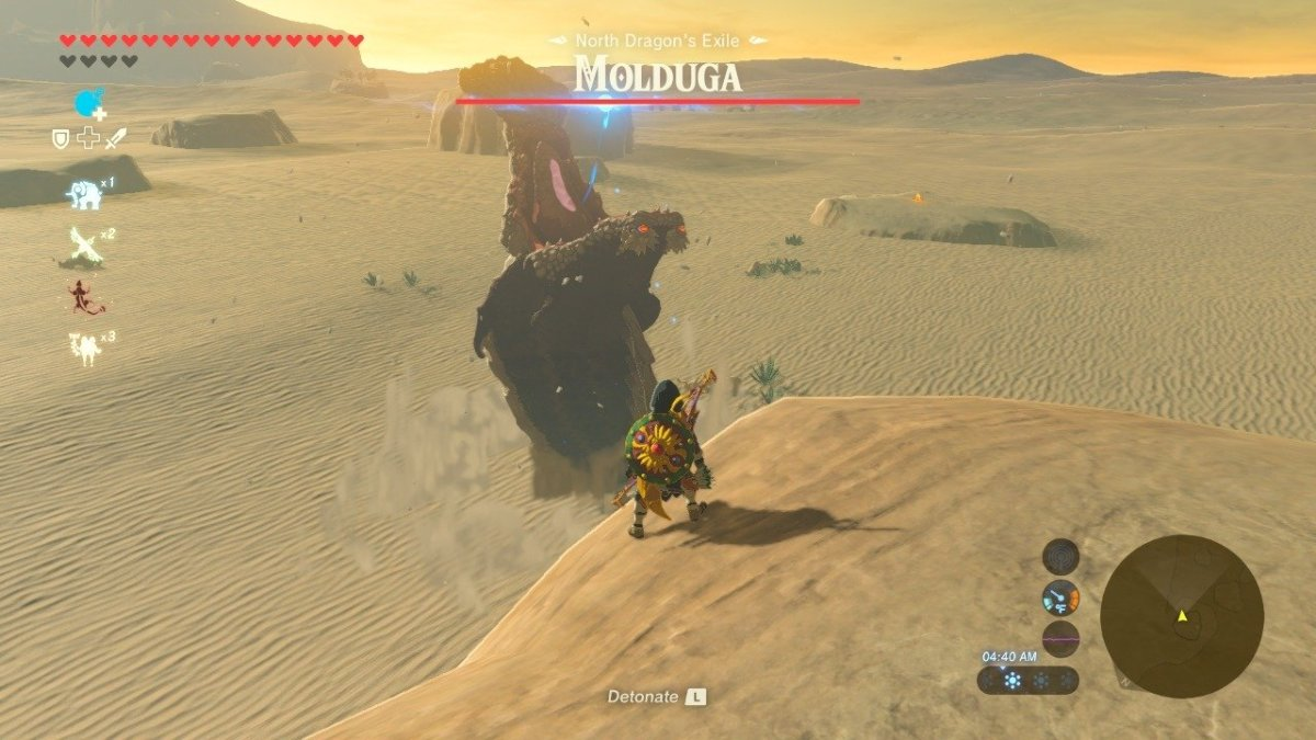 """The Molduga is one of the larger monster mini-boss enemies in """"The Legend of Zelda: Breath of the Wild."""""""