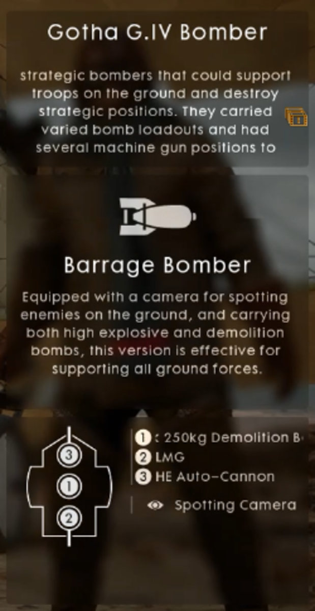 In-game description of Barrage Bomber.