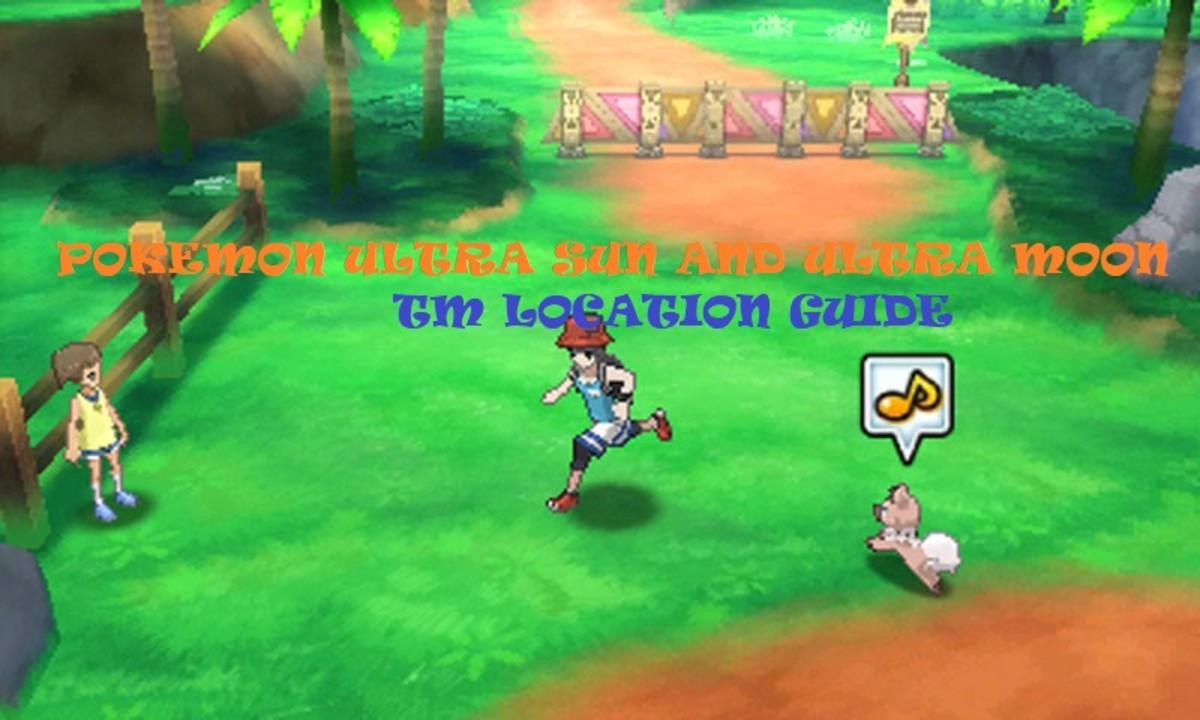 """Pokémon Ultra Sun and Ultra Moon"" TM Location Guide"