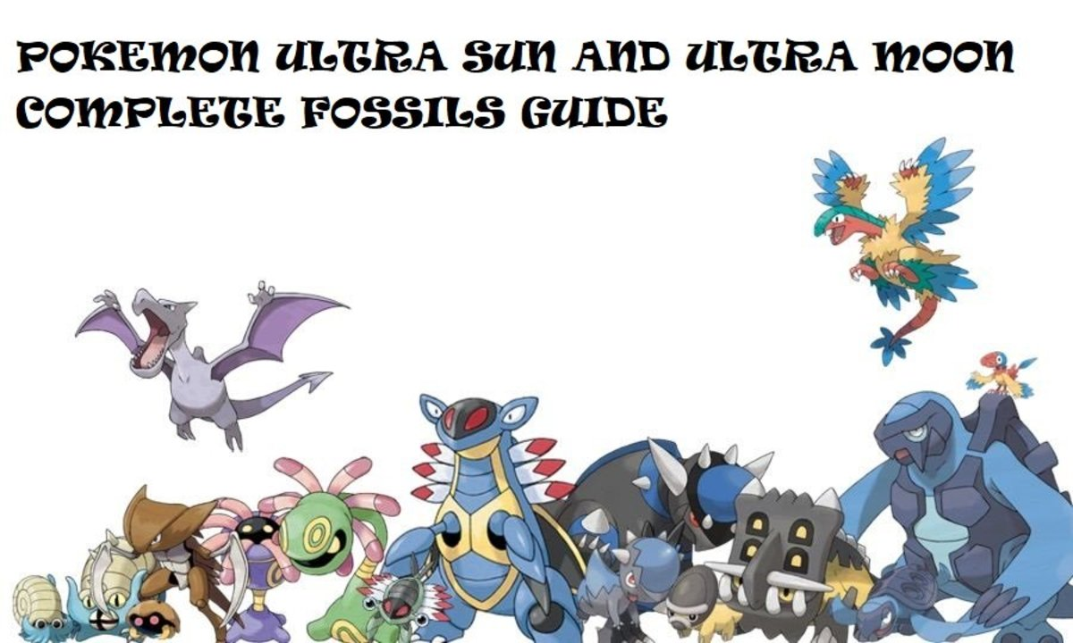 Pokemon Ultra Sun and Ultra Moon: Fossils Guide