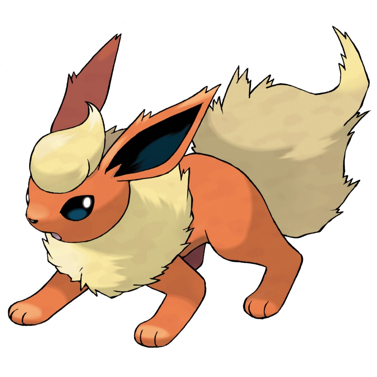 Flareon is eevee's fire-type evolutionary form.