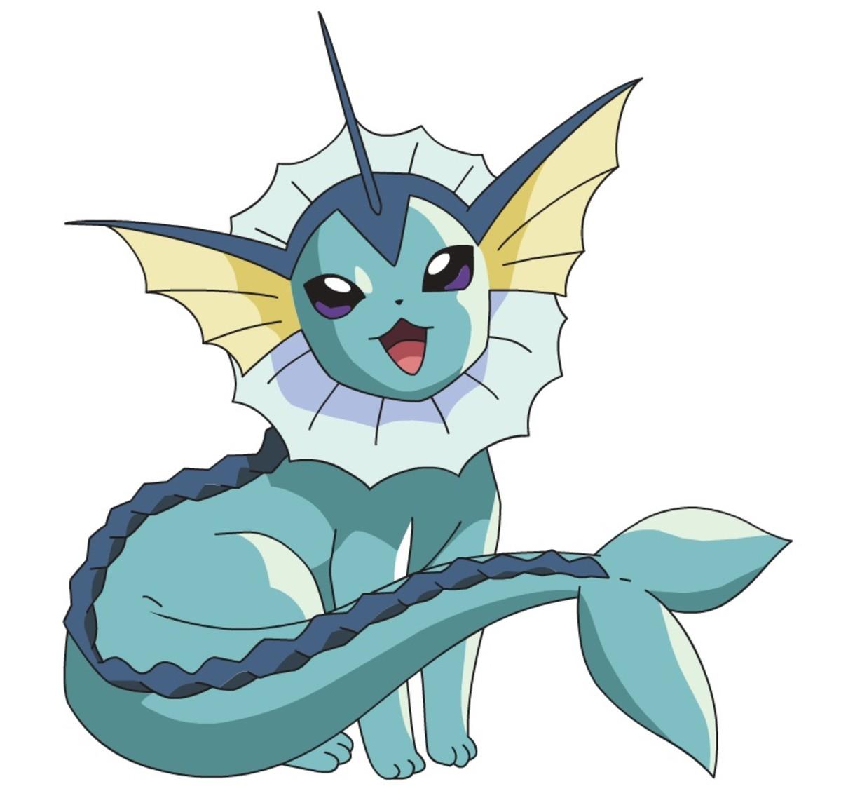 Vaporeon is a Water-type Eeveelution!