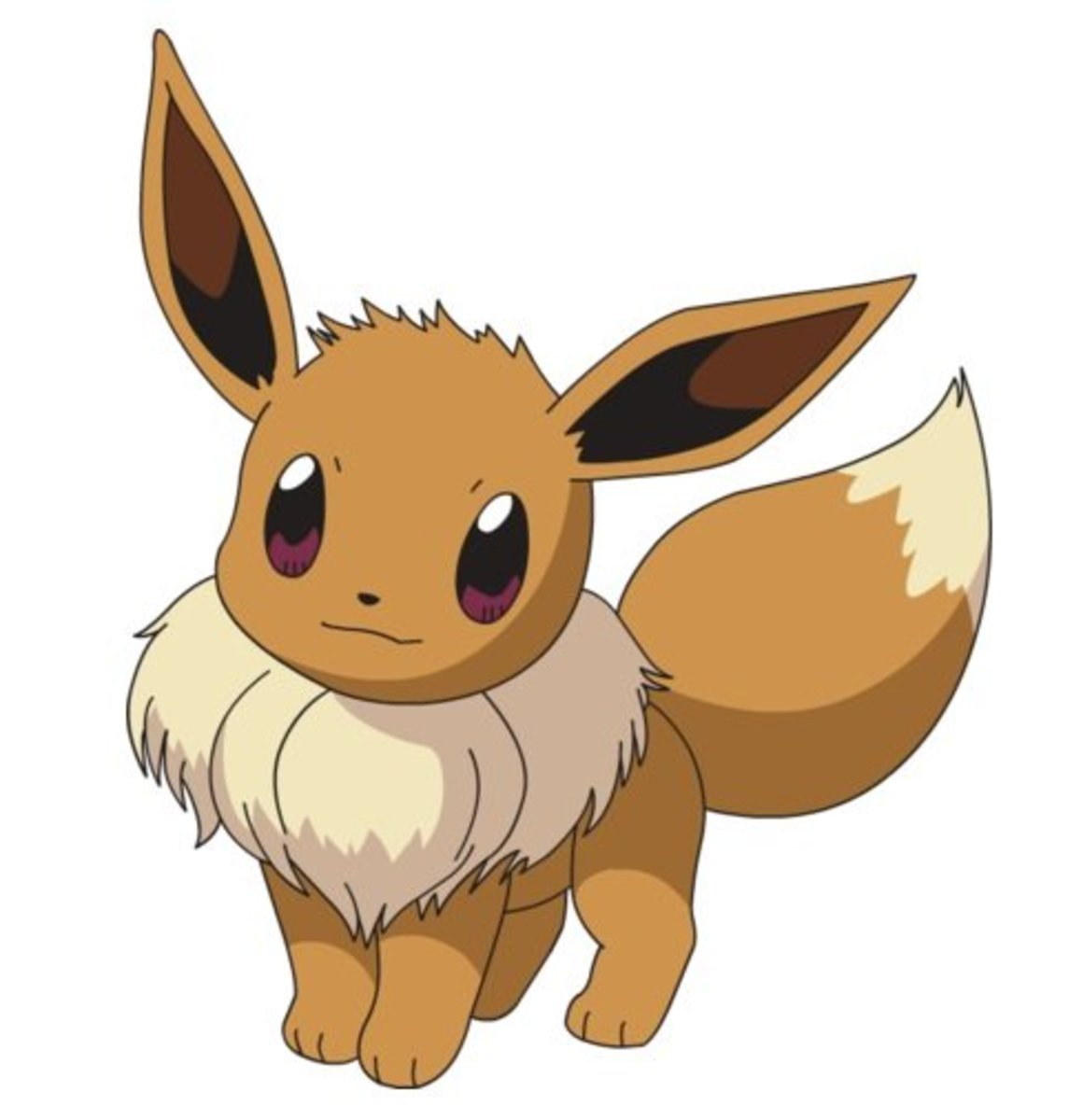 Eevee is a Normal-type that can evolve into many different types of Pokémon.