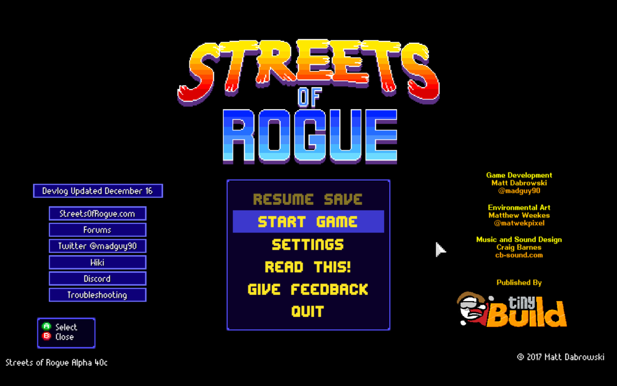 """""""Streets of Rogue"""" Mac Review"""