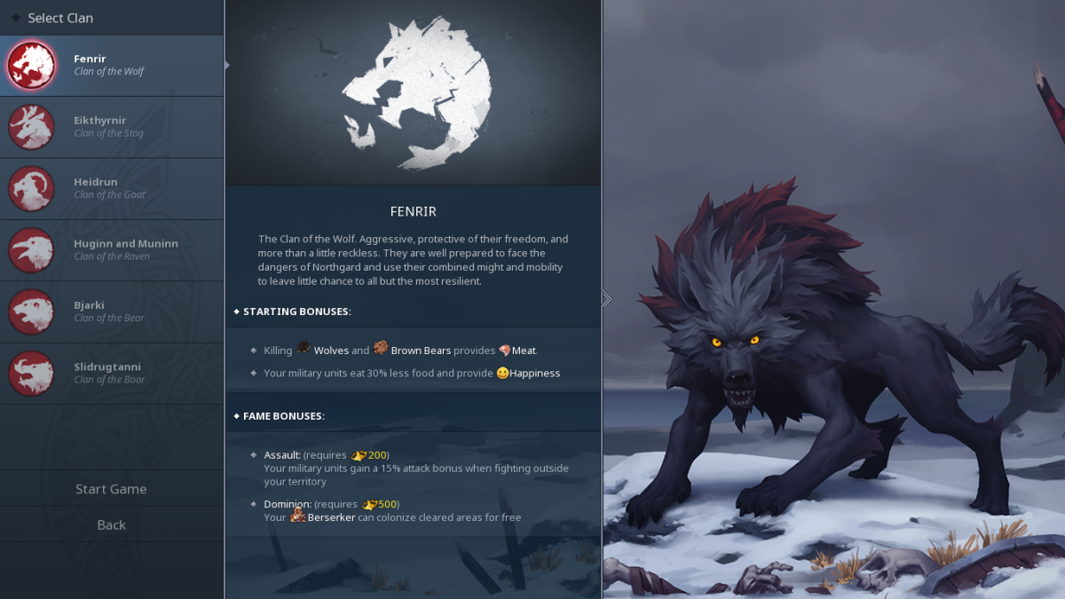 The Fenrir clan is considered as the best clan to start with when playing the game for the first time.
