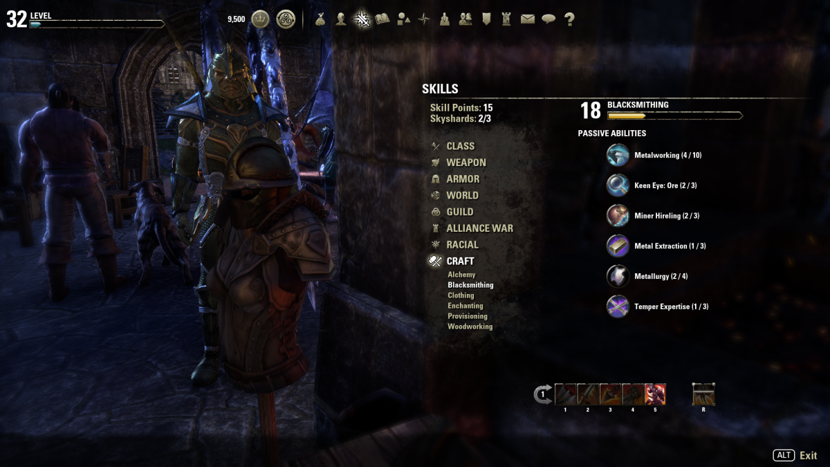 Elder scrolls online eso beginners crafting guide levelskip this is the blacksmithing skill window it is similar as the other two weapon and forumfinder Choice Image