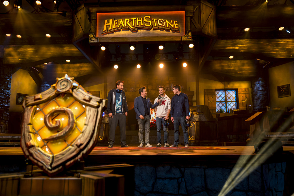 """Scenes from a """"Hearthstone"""" esports event."""