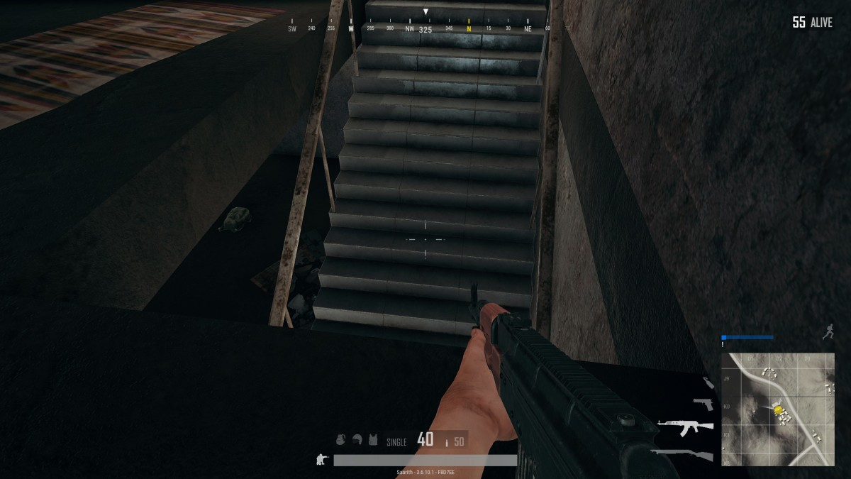 Camping at stairs is one way to make other PUBG players hate you. Also a decent survival trick.