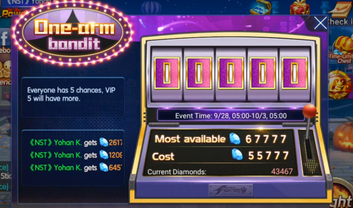 Kof 98 um ol Guide: Save Diamonds for the Slot Machine Event