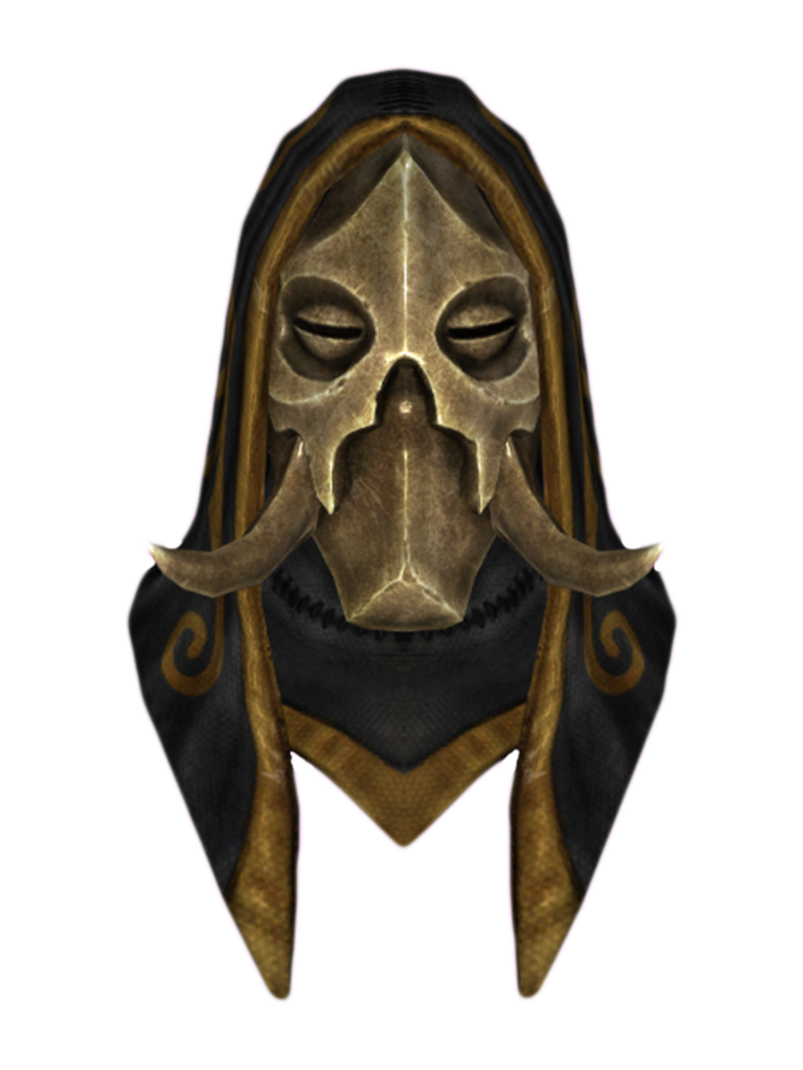 Hooded Konahrik Dragon Mask