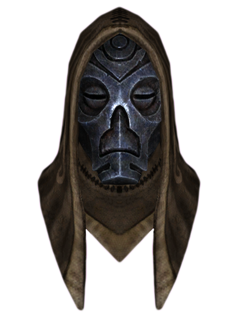 Hooded Nahkriin Dragon Mask