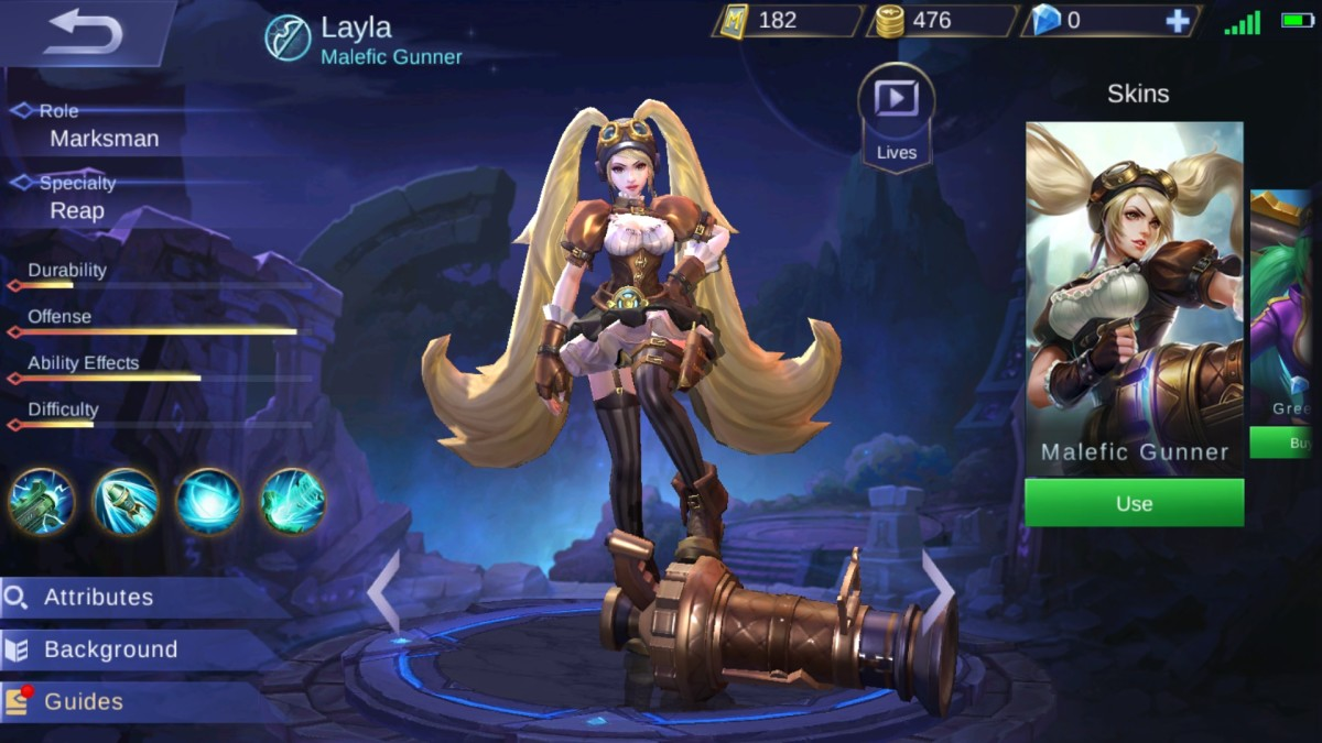 Layla is the Malefic Gunner