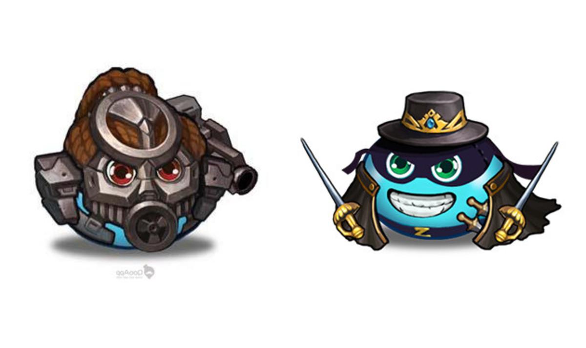 Predator Gumball and Zorro Gumball