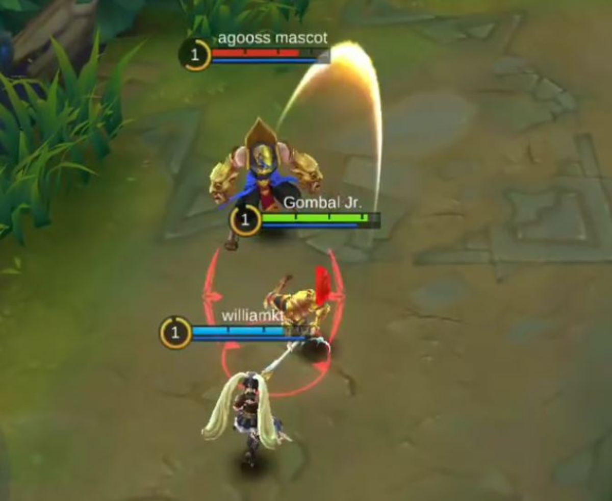 Zilong Flipping an Enemy Behind Him With Spear Flip