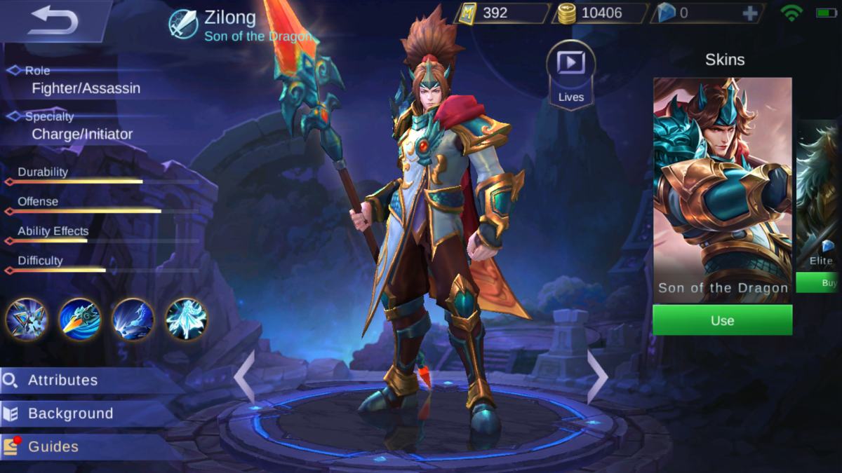 Zilong is the Son of the Dragon