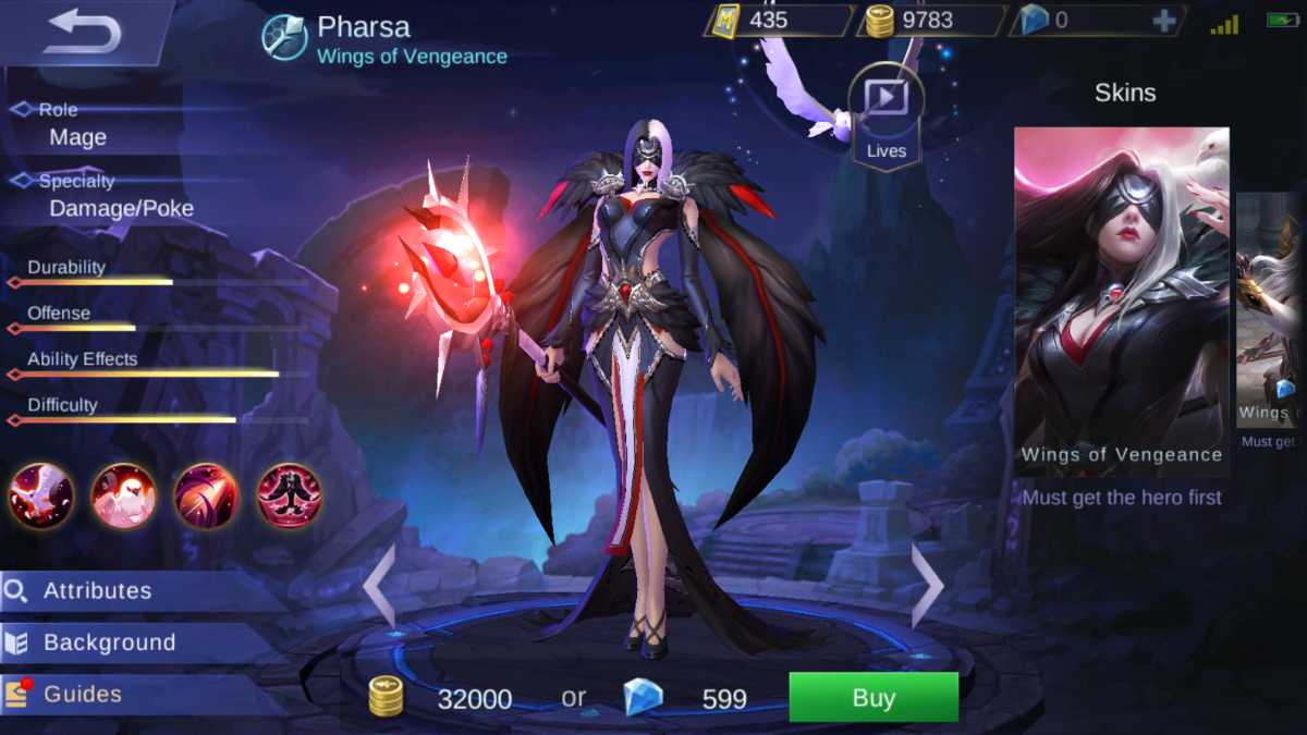 Pharsa Is the Wings of Vengeance