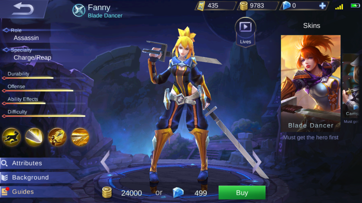 Fanny Is the Blade Dancer