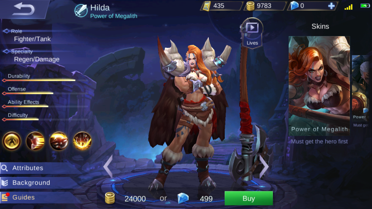 Hilda is the Power of Megalith