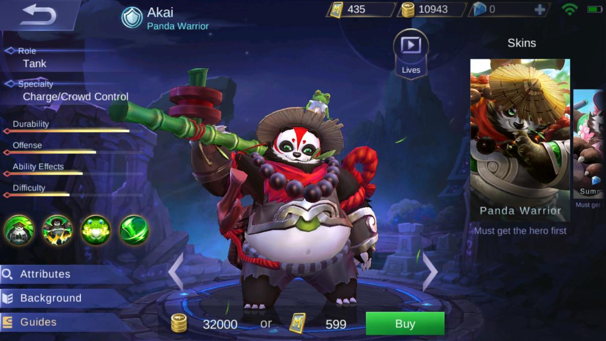 Akai Is the Panda Warrior