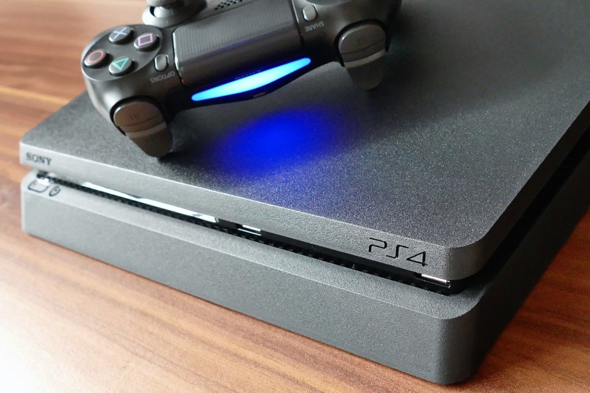 PlayStation 4 with DualShock 4 controller
