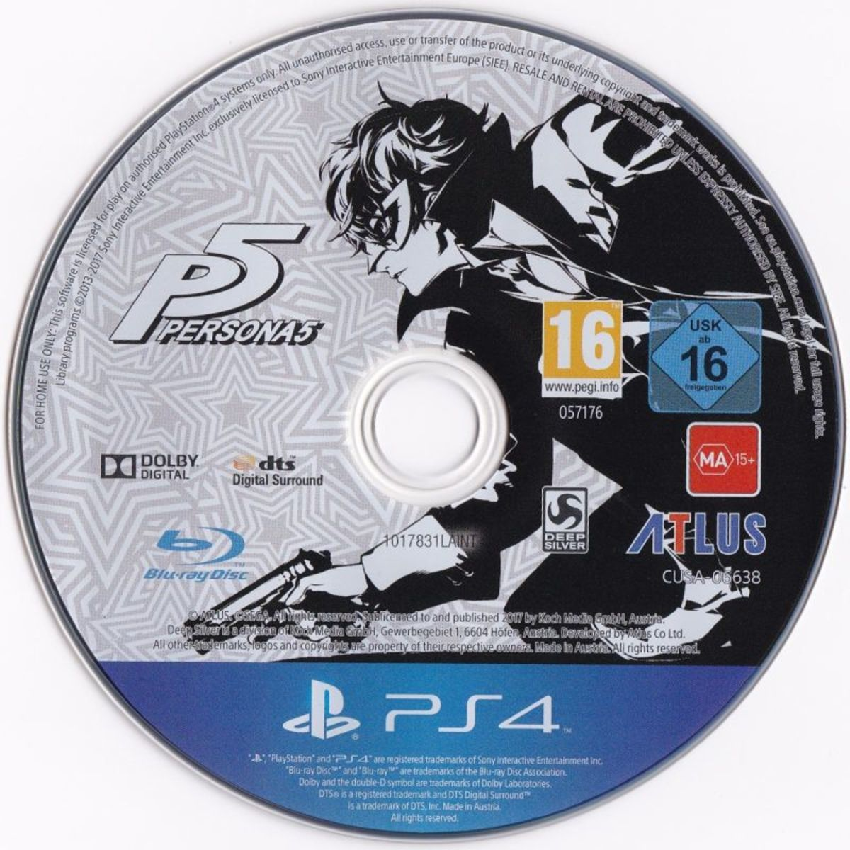 Persona 5 game disc