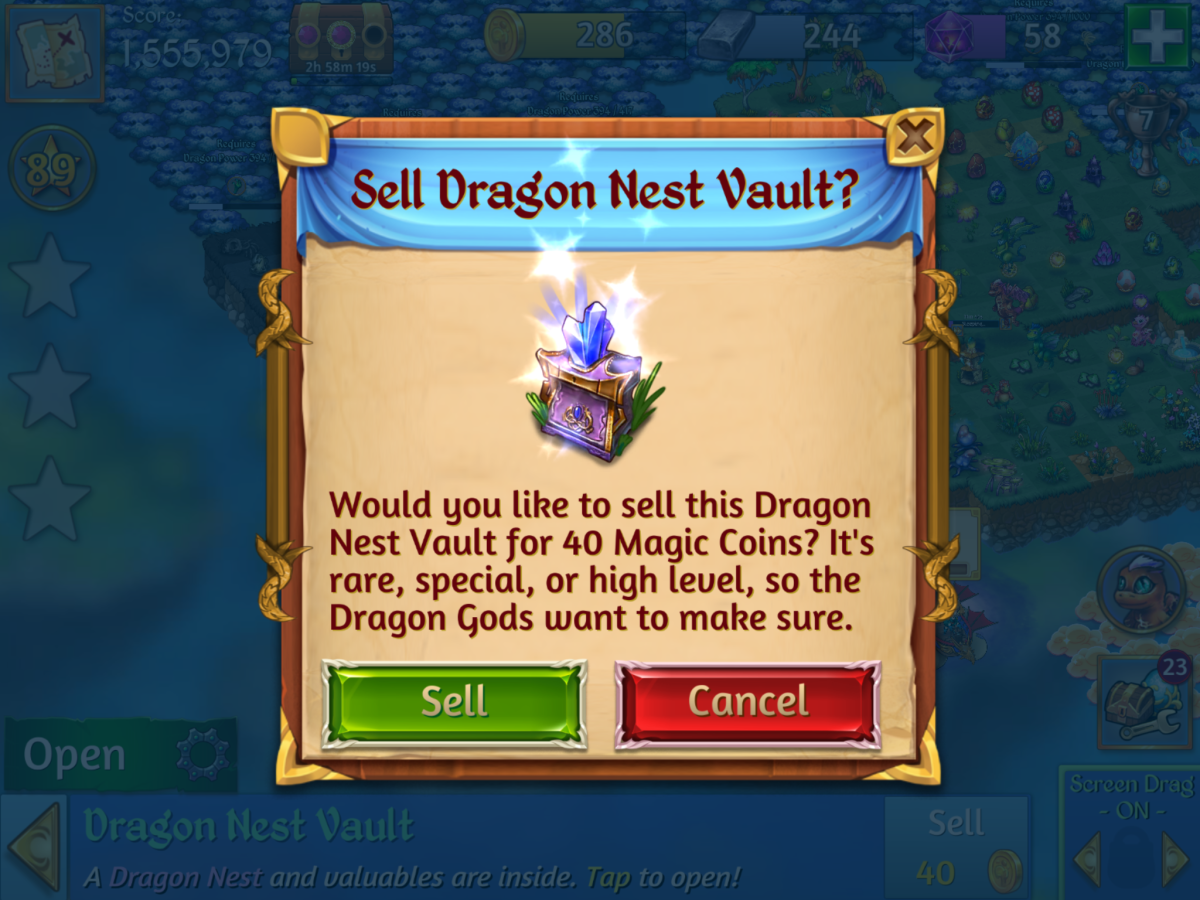 It may be tempting to spend purple gems on these, but sell them for gold coins, instead!