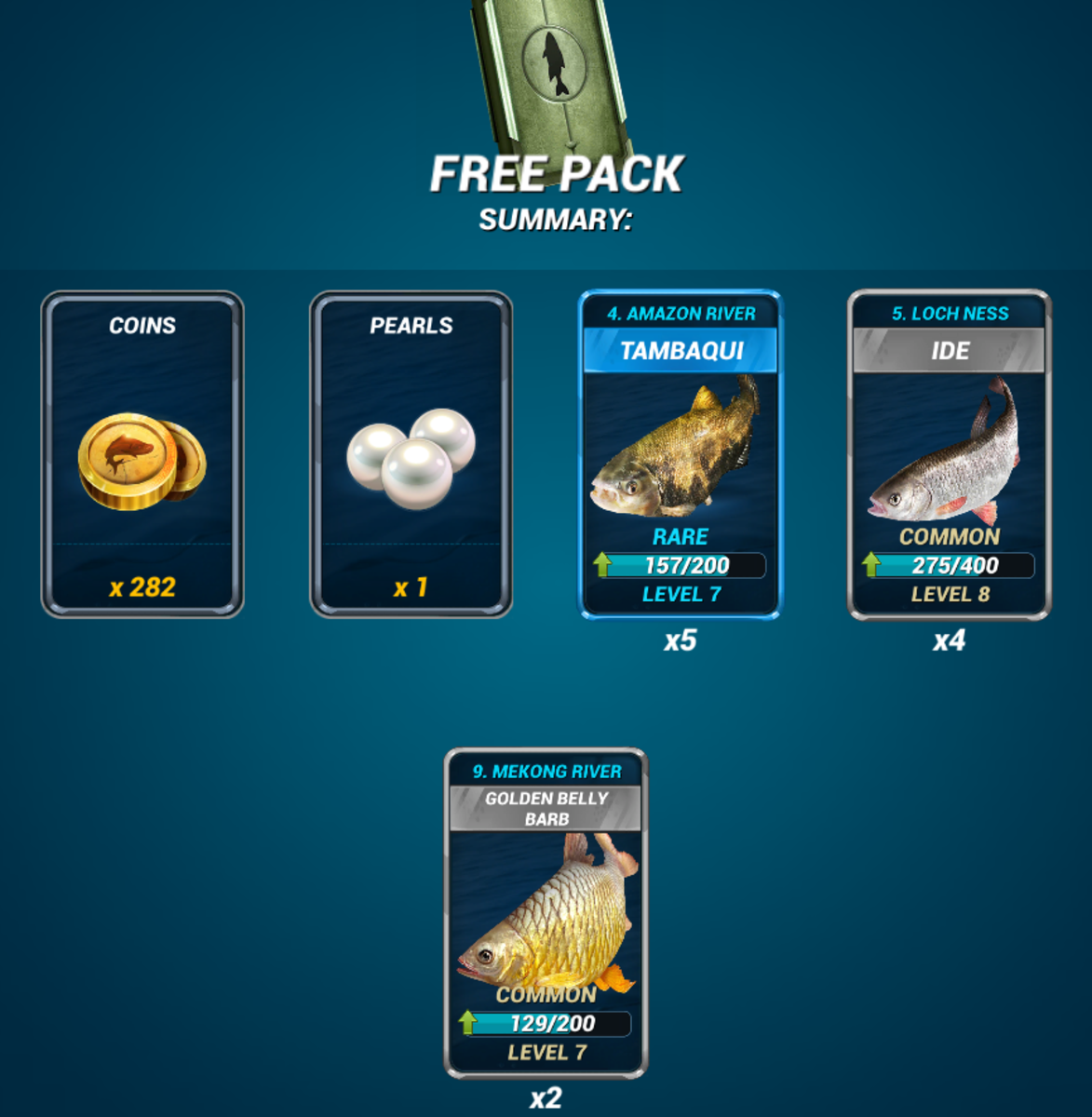 Example Rewards From a Free Pack