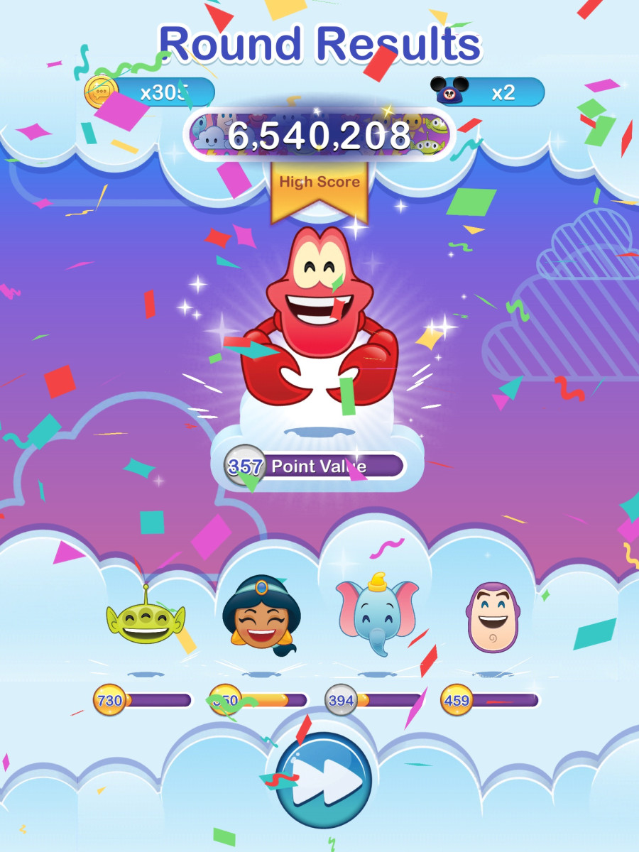 "A high-scoring round in ""Emoji Blitz""! Get some tips to help you advance faster in the game."