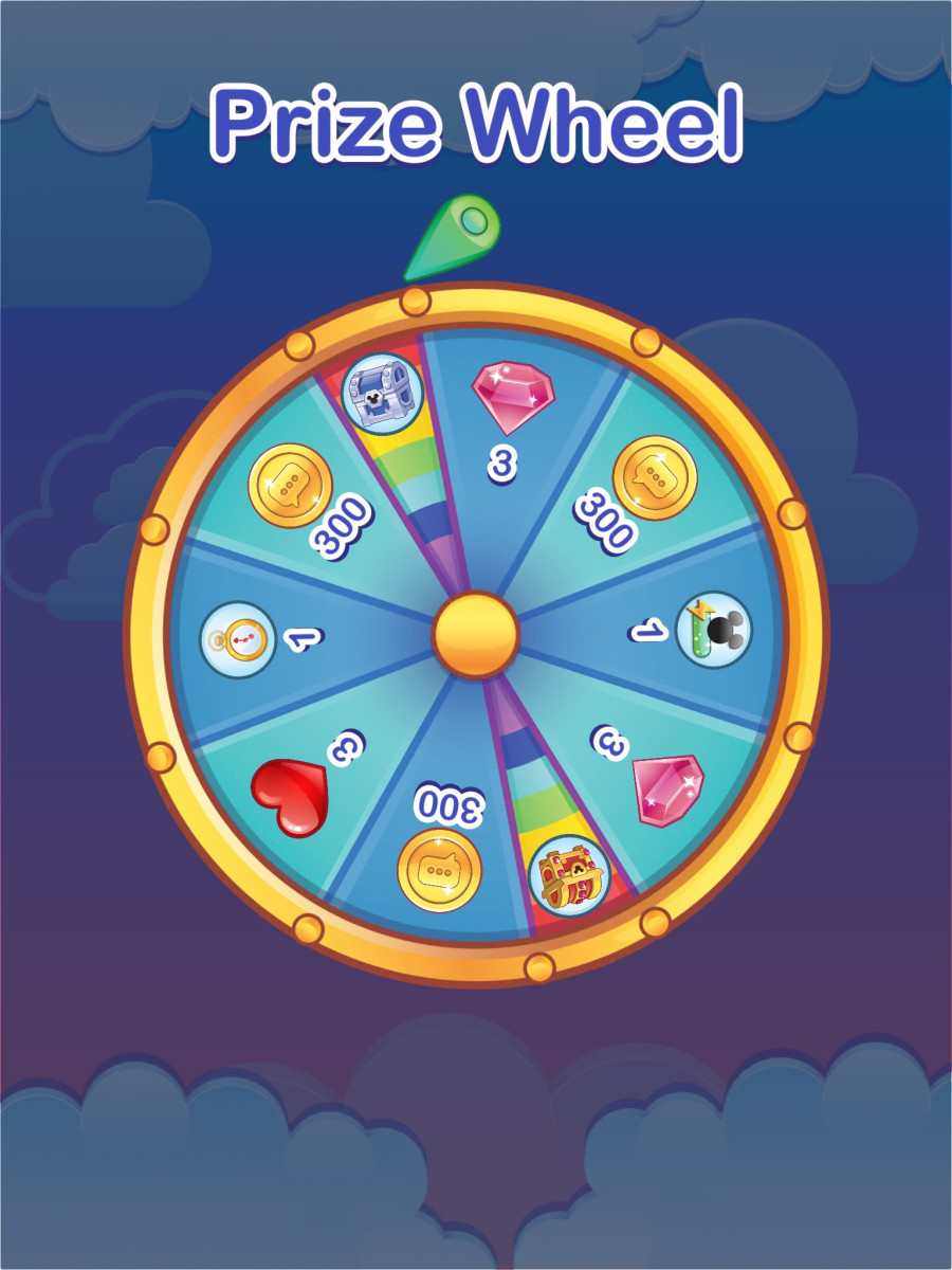 Spin the Free Prize wheel once every 8 hours to gather coins, gems, lives, and more.