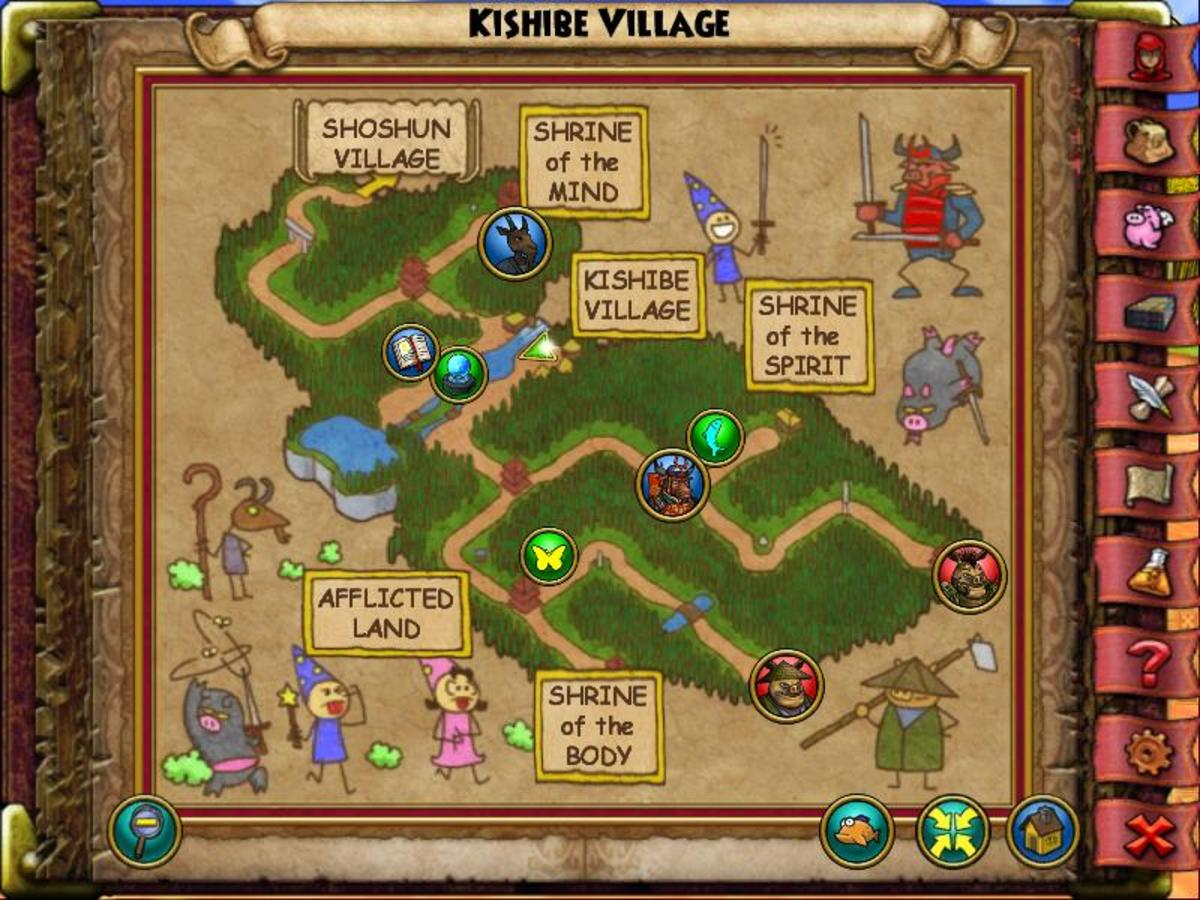 Kishibe Vilage's Oyster is in the village itself, over near Mossback behind a well.