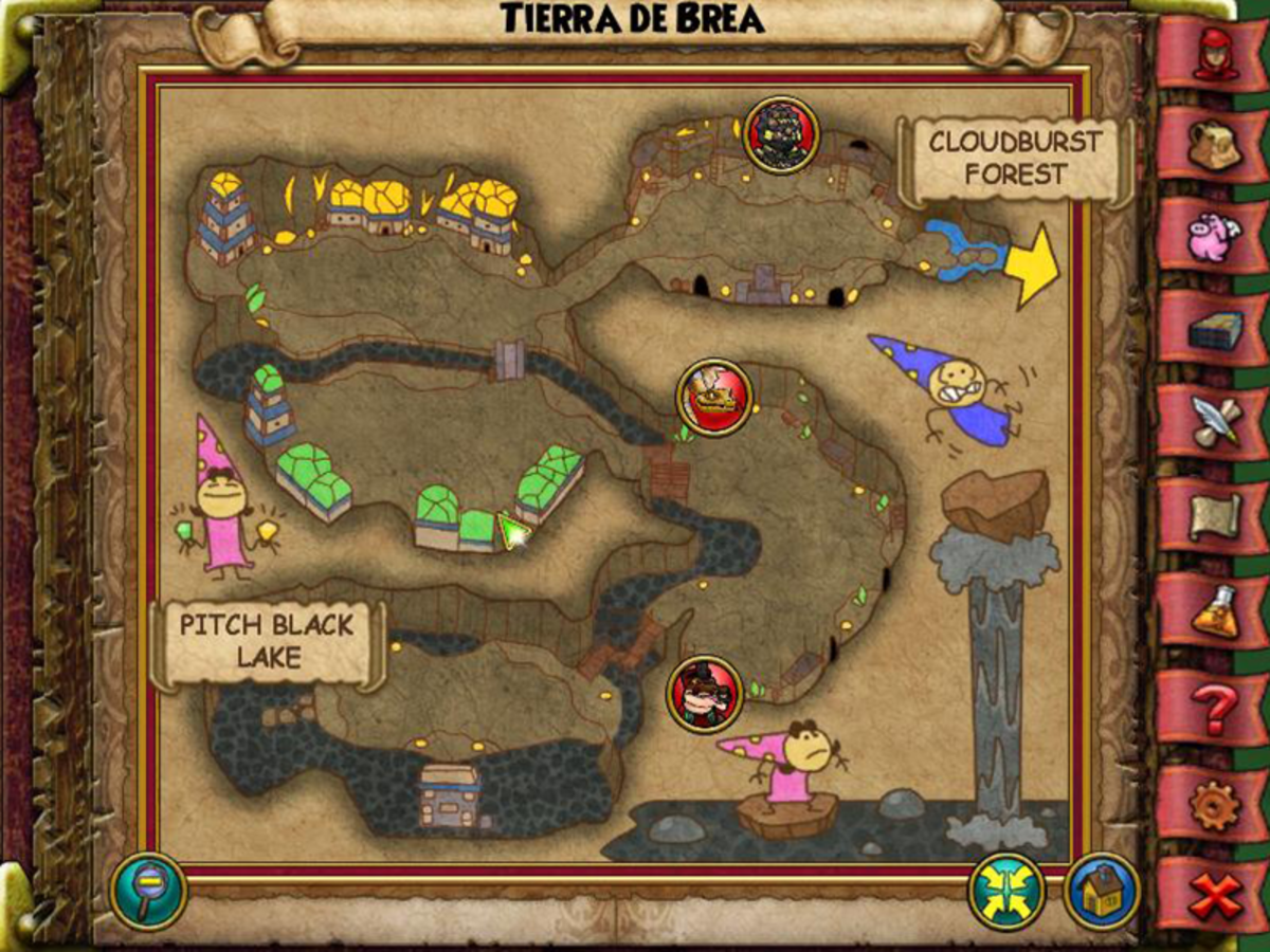 Tierra de Brea's UFO is past Otomi Far Spike, between two buildings.