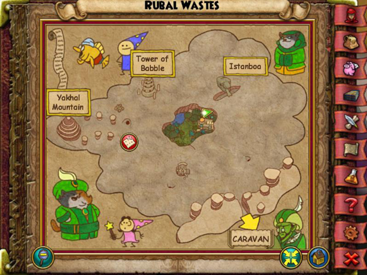 The Rubal Wastes Oasis is in the fertile land in the middle of the map. To find it, go to the House Calixco castle but instead of entering walk on the left ledge of the building around to the back where the Oasis sits.