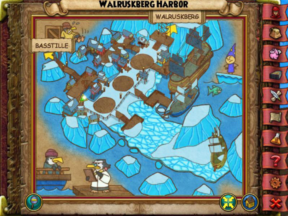 The Vanilla Ice in Walruskberg Harbor is inside of the Inspector's Brigade Headquarters. You do not have to do any battles because it is to your right behind the counter.