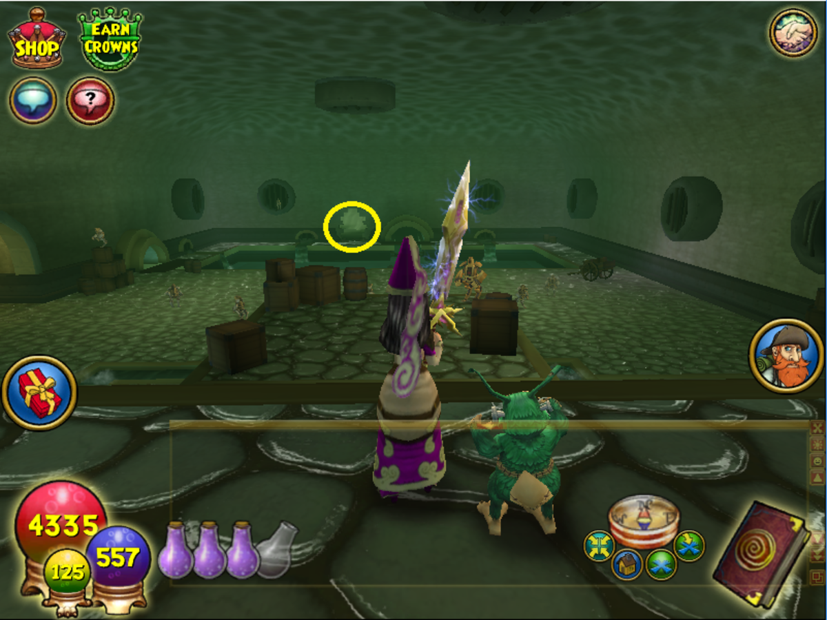 The Zanadu sewers area does not have a map. When you first enter the sewers go to the ledge where Ruumba is, as pictured. You will see the doorway (circled in yellow) in the distance. Go through to the end of the tunnel to find the Blowfish.