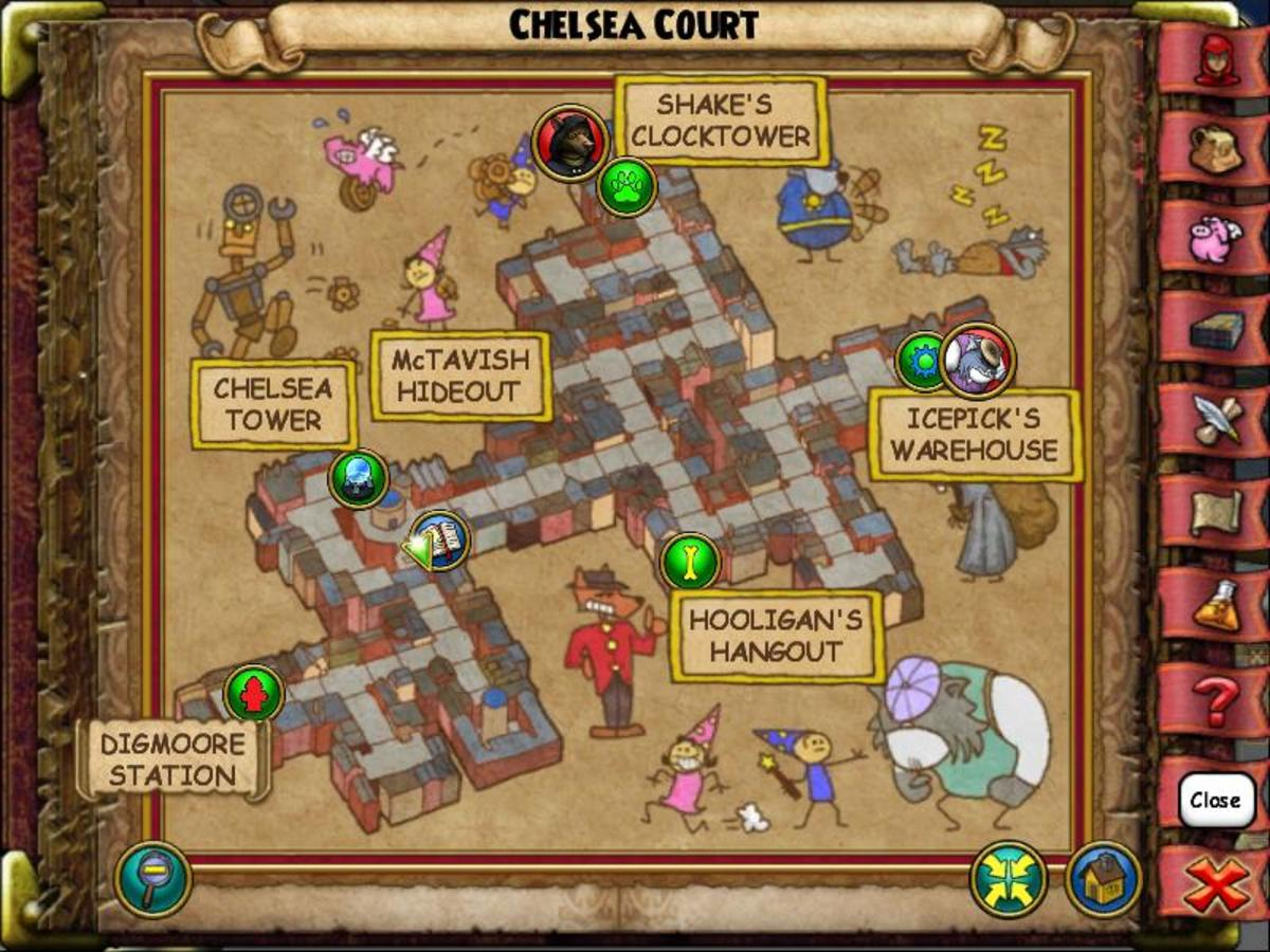 Chelsea Court's Cat is near the teleporters. Go around the other side of the tower and the cat will be next to some levers.