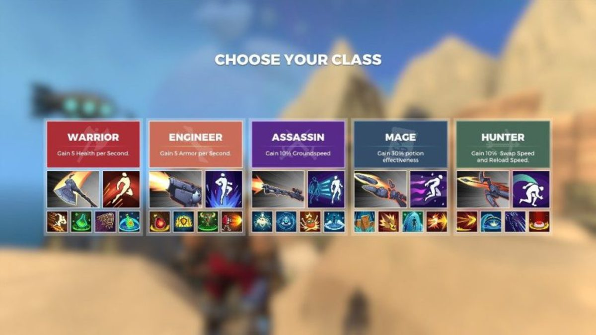 Different classes have different special abilities.