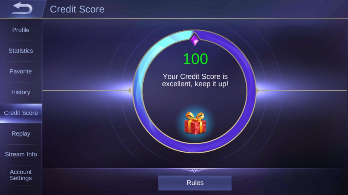You can check your in-game Credit Score.
