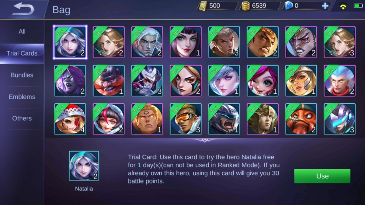 Convert trial cards into BP if you already own the hero.