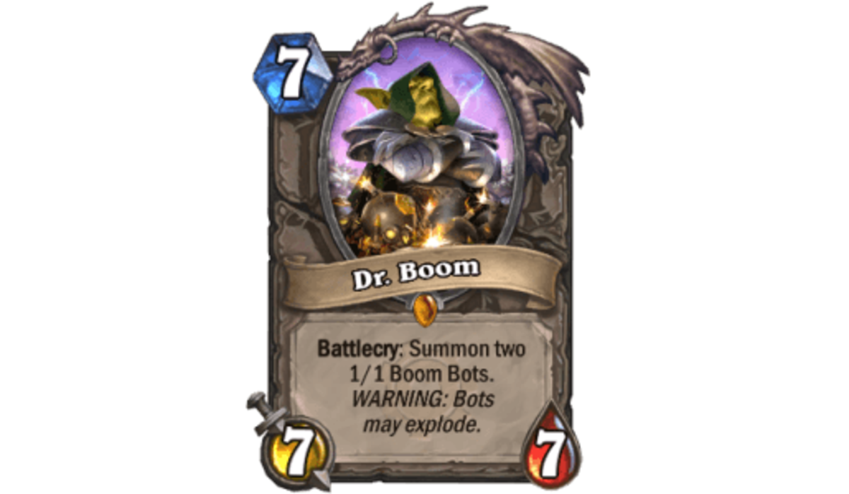 Dr. Boom was one of the most used cards in Hearthstone history before hitting the chopping block.