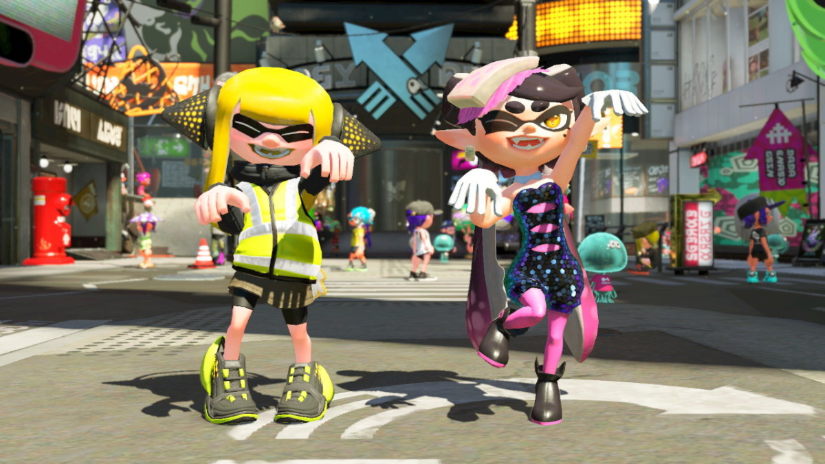 This is my Inkling in the gear given by Callie.