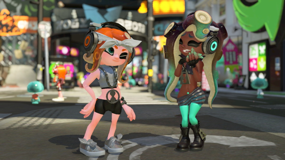 My Octoling is dressed like her hero, Marina.
