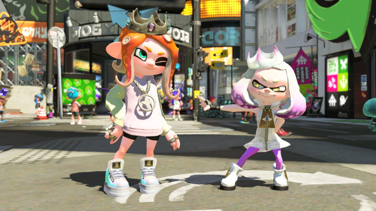 My Octoling is wearing Pearl's Amiibo exclusive gear.