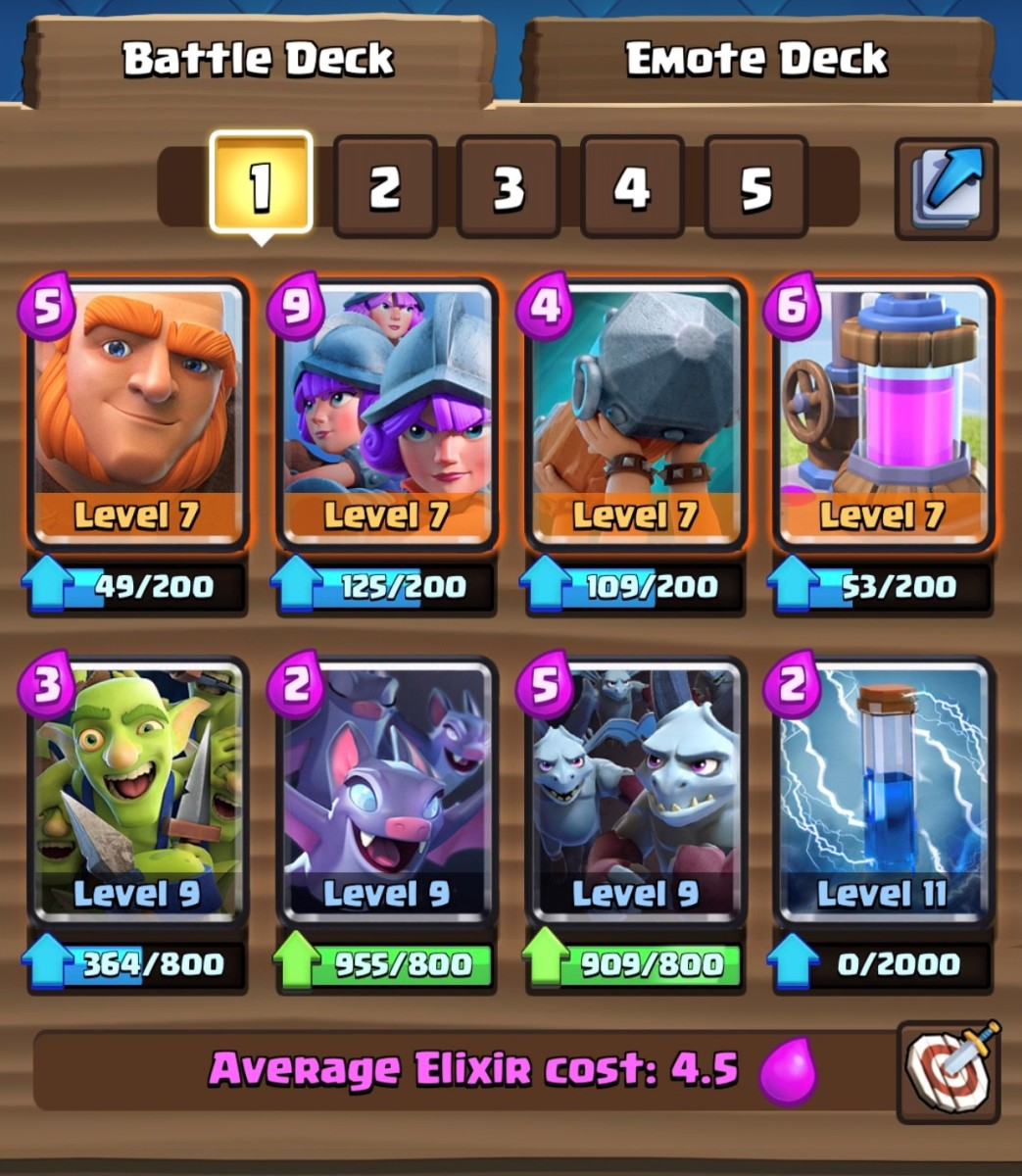 """Clash Royale"": Giant Three Musketeer Deck"