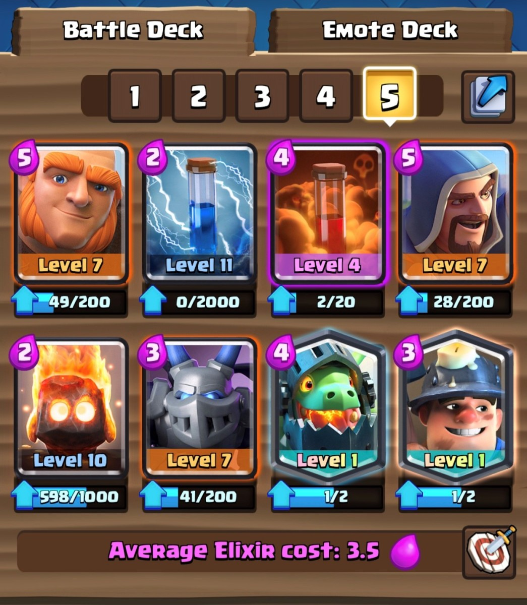 """Clash Royale"": Inferno Miner Control Deck"