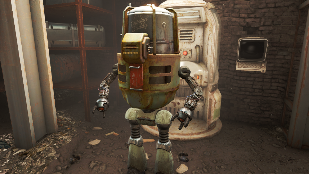 Also, don't forget to get Drinking Buddy, who can ice your Nuka Cola for you!