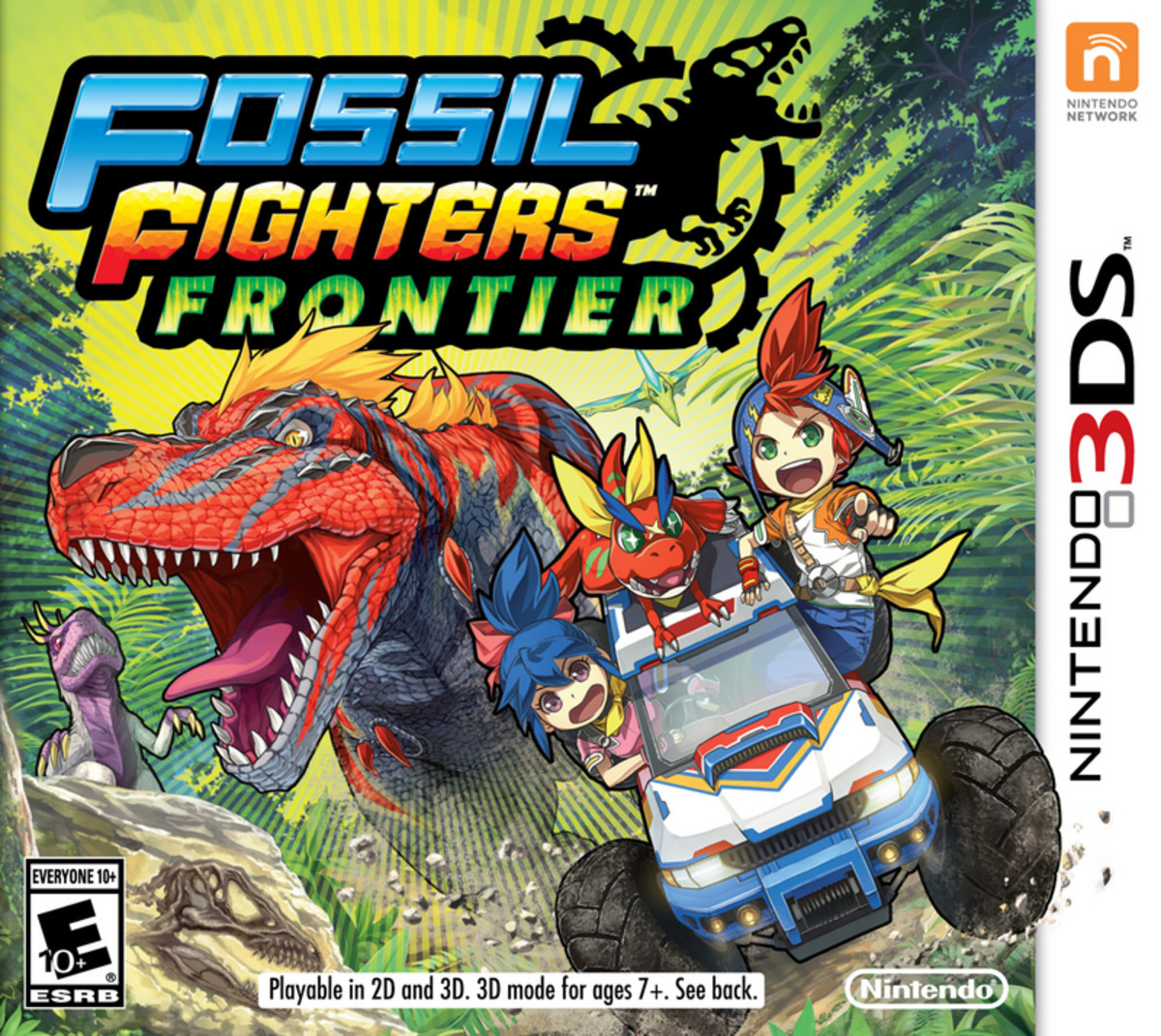 Box art for Fossil Fighters: Frontier for Nintendo 3DS.