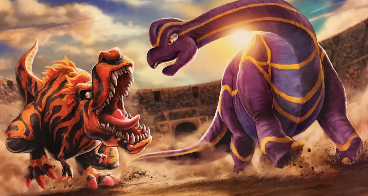 Promotional artwork for Fossil Fighters